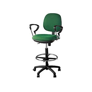 Task chair chrome arms 5 star nylon base w/casters
