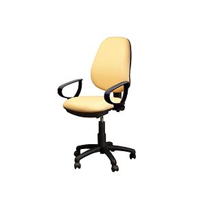 "office chair ""D"" poly arms 5 star nylon base w/casters"