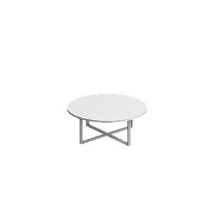 "Whiteboard top round table 48 x 18"" Venti"